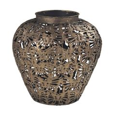 Sterling Industries 138-043 Rainford Butterfly Filigree Vase Gold Leaf Home Decor Accents Vases