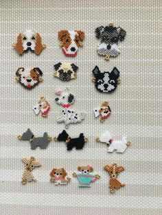 Seed Bead Patterns, Beaded Jewelry Patterns, Peyote Patterns, Beading Patterns, Seed Bead Crafts, Seed Bead Jewelry, Bead Jewellery, Puppy Crafts, Diy Jewelry Projects