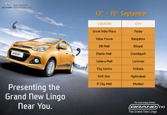 Want to catch a glimpse of the Hyundai Grand? Then head to your nearest mall where it's waiting for you!