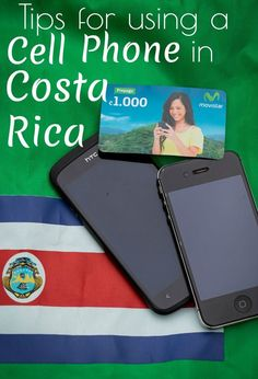 The Ultimate Guide to Using a Cell Phone in Costa Rica. Learn how to call local numbers, use internet, and call your family back home! www.unevensidewalks.com #phones #vacation #costarica