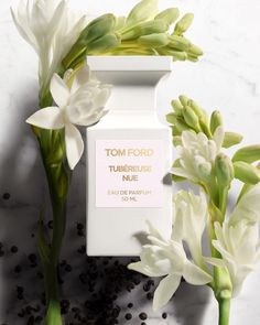 TOM FORD Tubéreuse Nue: This fragrance conjures the nocturnal bloom of tuberose as its fresh petals merge with a supple suede