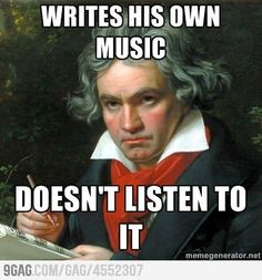 Beethoven writes his own music