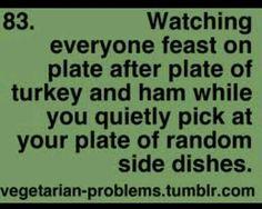 Vegetarian problems