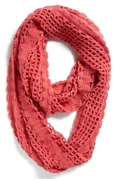 Snuggle up with a crocheted infinity scarf