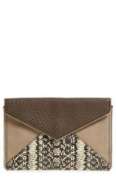 REBECCA MINKOFF 'Leo' Clutch. #rebeccaminkoff #bags #leather #clutch #hand bags