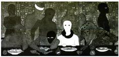 Belkis Ayón, La cena (The Supper), 1991. Collograph. Collection of the Belkis Ayón Estate.