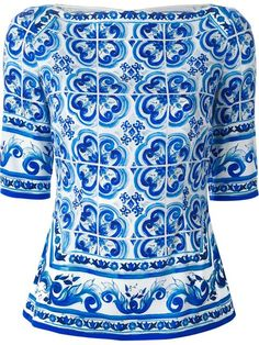Shop Dolce & Gabbana 'Majolica' print top in Tiziana Fausti from the world's best independent boutiques at farfetch.com. Shop 300 boutiques at one address.