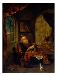 An Old Man in his Study by Gerrit Dou