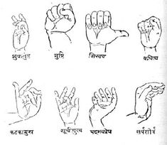 kathak hand gestures (indian dance)