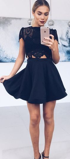 #spring #outfits The Stunning Black Lace 'Dahlia' Dress ✔✔