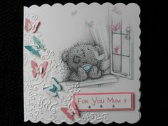Me to You card Kids Cards, Baby Cards, Bear Card, Tatty Teddy, Beautiful Handmade Cards, Cute Cards, Creative Crafts, Friends Forever, Making Ideas