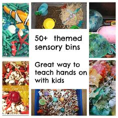 Sensory play is such a GREAT way for little ones to explore and learn, here's 50+ great examples to inspire you