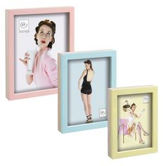 Set 3 cornici PIN UP cod. A369 #mascagnicasa colori pastello