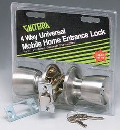 Valterra L32CS010 Knob x Knob 4-way Universal Door Lock (Viewpack)