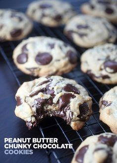 Peanut Butter Chunky Chocolate Cookies | Bakerella | Bloglovin'