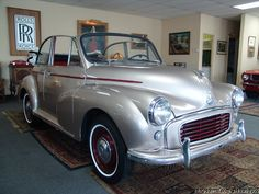 1959 MORRIS MINOR 1000 CONVERTIBLE — Daniel Schmitt & Company Morris Minor, Mini Coopers, Small Cars, Manual Transmission, Amazing Cars, Motor Car, Jaguar, Motorbikes, Vintage Cars
