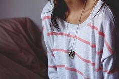 I want the sweater and the necklace.
