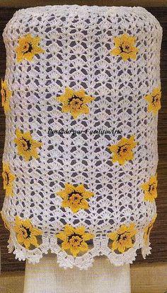 Facilite Sua Arte: Jogo de cozinha - 1 - Capa para Garrafão Crochet World, Crochet Home, Freeform Crochet, Projects To Try, Blanket, Knitting, Cover, Pattern, Blog