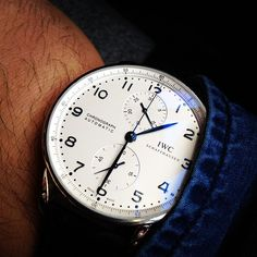 IWC Portuguese Chronograph Steel Watch