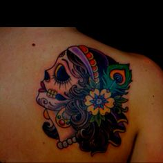 Gypsy sugar skull tattoo while in Mexico? yes, please!