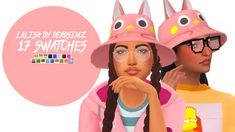 deadsimz: Cute hat inspired by my more geeky...   love 4 cc finds