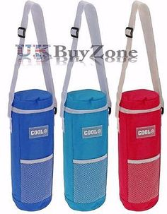 #Insulated bottle cool bag zip up ice wine #cooler shoulder strap #picnic drinks,  View more on the LINK: 	http://www.zeppy.io/product/gb/2/331847079584/