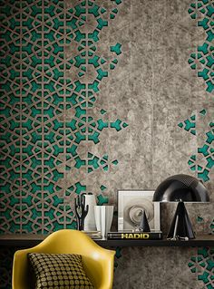 Arabic pattern in modern way Decoration Inspiration, Inspiration Wall, Interior Inspiration, Islamic Art Pattern, Arabic Pattern, Deco Design, Tile Design, Arabic Design, Wall Finishes