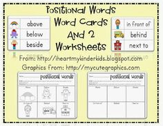 Fall Positional Words Worksheet Common Core. This freebie includes ...