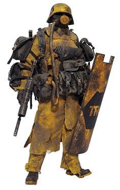 EMGY TRG Trooper - Artist: Ashley Wood, Platform: Grunt, Manufacturer: threeA (3A), Series: World War Robot (WWR)