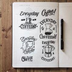 Coffee Coffee Coffee. Type by @hendryjuanda - #typegang - free fonts at typegang.com | typegang.com #typegang #typography