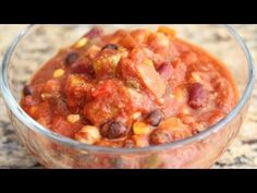Vegetarian Chili! - YouTube