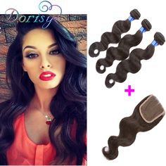 Cheap lace stopper, Buy Quality lace closure weaves directly from China weave kit Suppliers: 	Grade 7A Malaysia 3 Bundles With Closure Body Wave With Closure 	No Chemical Hot Queen Hair Products With Closure Bundl