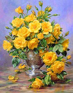 Albert Williams.....Beautiful yellow roses...♥