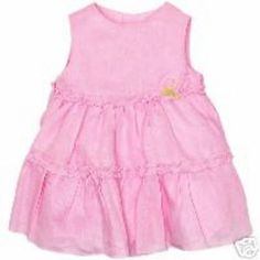 The Childrens Place New Baby Girls Pink Linen Spring Summer Dress 6-9 M NWT #TheChildrensPlace #Dressy