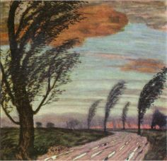 Landscape with storm - Franz Stuck, 1920