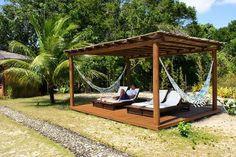 Backyard Gazebo, Backyard Seating, Backyard Patio Designs, Pergola Designs, Backyard Projects, Outdoor Projects, Backyard Landscaping, Outdoor Spaces, Outdoor Living