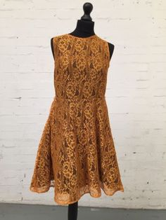 Myleene Klass Burnt Orange Lace Dress Size: 12 in Clothes, Shoes & Accessories, Women's Clothing, Dresses | eBay