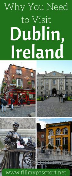 We think Dublin is hands down the best city in Ireland to visit. We love how diverse the activities in Dublin are from museums to statues to pubs. Come see what you need to see in Dublin, Ireland and why it's your favorite city in Ireland. Don't forget to save these Dublin travel tips to your travel board so you can find them later.