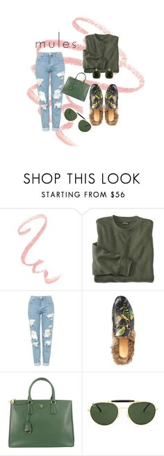 """""""Untitled #40"""" by treyparker0 ❤ liked on Polyvore featuring Topshop, Gucci, Prada, Ray-Ban and Les Néréides"""
