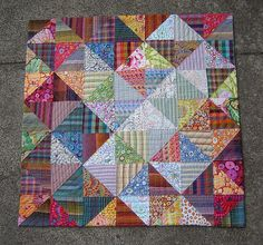 I think I just found my next quilt!  love the plaids and dots...today is 3/28/16...let's see when I get it done