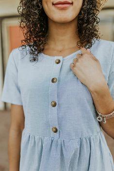 Nursing Friendly Stripe Dress | ROOLEE