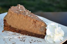 Chocolate mousse cake with brownie crust recipe ... oh my!