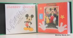 DIY Disney Autograph Book/Scrapbook