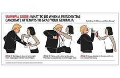 Survival Guide: What to do when a presidential candidate attempts to grab your genitalia. Republican Leaders, New President, Presidential Candidates, Social Issues, Survival Guide, Pinterest Marketing, In This World, Donald Trump, Donald Meme