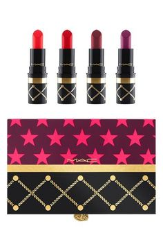 MAC Nutcracker Sweet Red Mini Lipstick Kit available at #Nordstrom