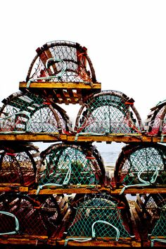 Lobster Traps Photo Fine Art Photography by PatrickRabbatPhotos