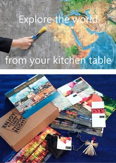 Get the subscription that introduces you to a new country every month over an amazing meal. The box contains everything you need to have an amazing country-themed dinner and an incredible learning experience.  www.kitchentablepassport.com