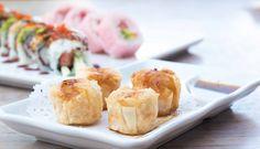 Shrimp shumai and King Roll