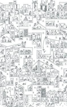 ケンチクイラストレーター、イスナデザイン『おさるのまち』 #ランドスケープ #建築 #パース #イラスト #デザイン #街 #街並み #住宅 #集合住宅 #年賀状 #建物 #housing #illustration #perspective #isnadesign #landscape #design #architecture #house Architecture Concept Drawings, Architecture Collage, Landscape Architecture, Landscape Design, Cool Designs To Draw, Korean Painting, Isometric Art, Line Art, Art Graphique
