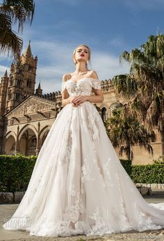 louise sposa 2018 bridal off the shoulder sweetheart neckline heavily embellished bodice romantic princess ball gown a line wedding dress royal train (1) mv -- Louise Sposa 2018 Wedding Dresses
